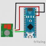 emetteur 150x150 - Comment lire et émettre un signal radio RF 433Mhz avec un Arduino Nano